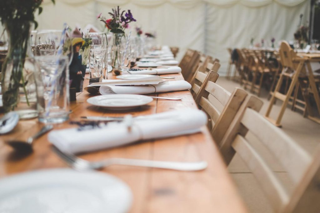 Top 10 wedding venues in yorkshire. picture of yorkshire marquee set up for a wedding